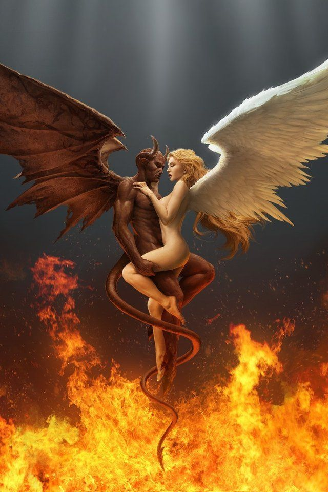 Angel art fucking demon