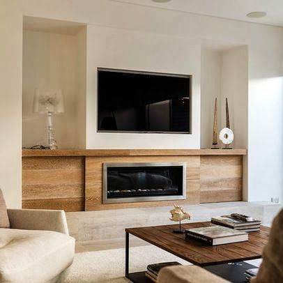 Exceptional Wood Storage With Fireplace. Tv Over Fireplace. Ozone Residence By Swell  Homes