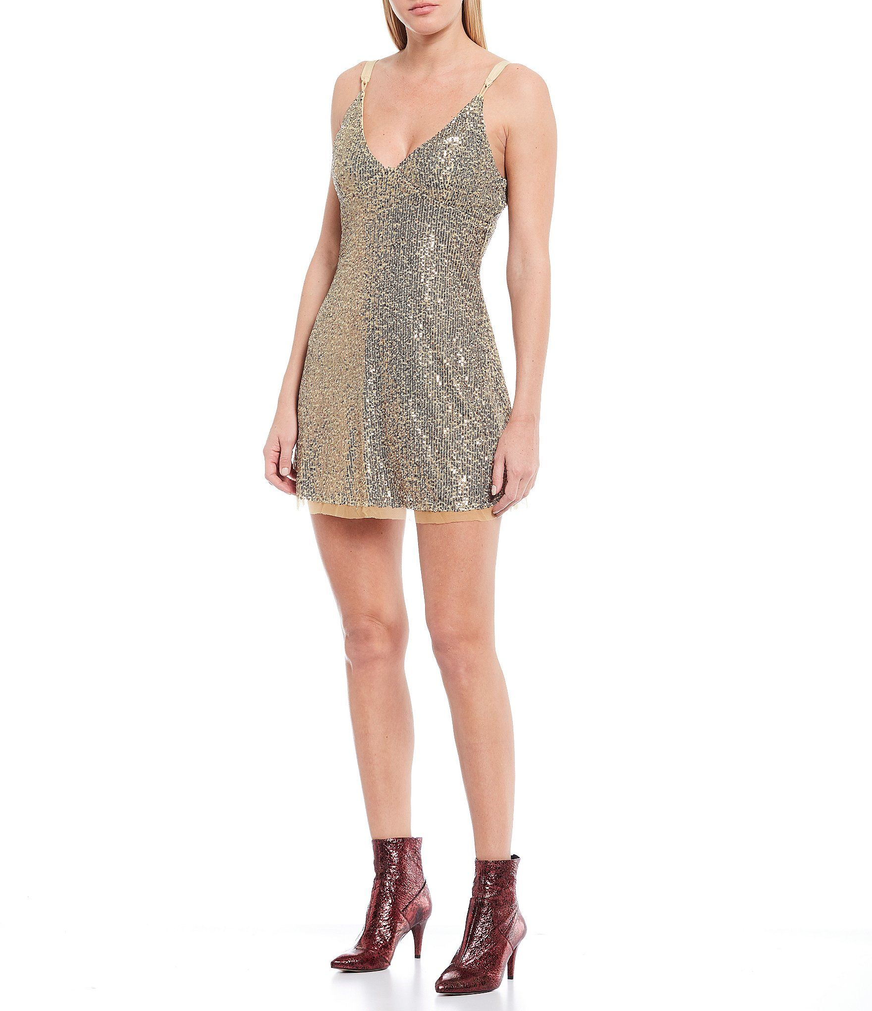 Gold Rush Allover Metallic Sequin Mini Dress In 2020 Sequin Mini Dress Dresses Where To Buy Clothes