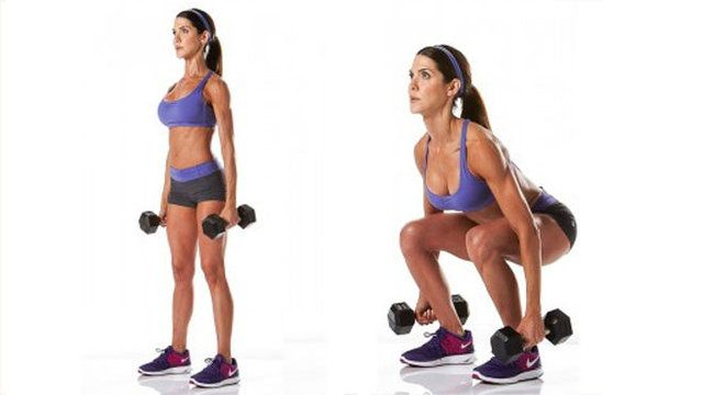 DB squats | Workout | Pinterest | Strong legs, Cardio and Dumbbell ...