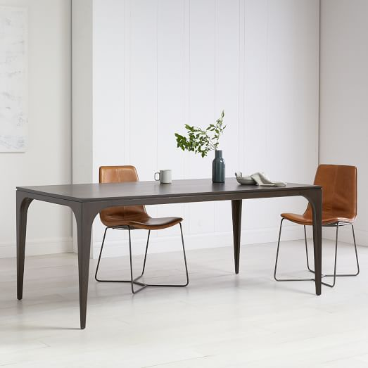 Adam Court Dining Table Dark Mineral Farmhouse Dining Table