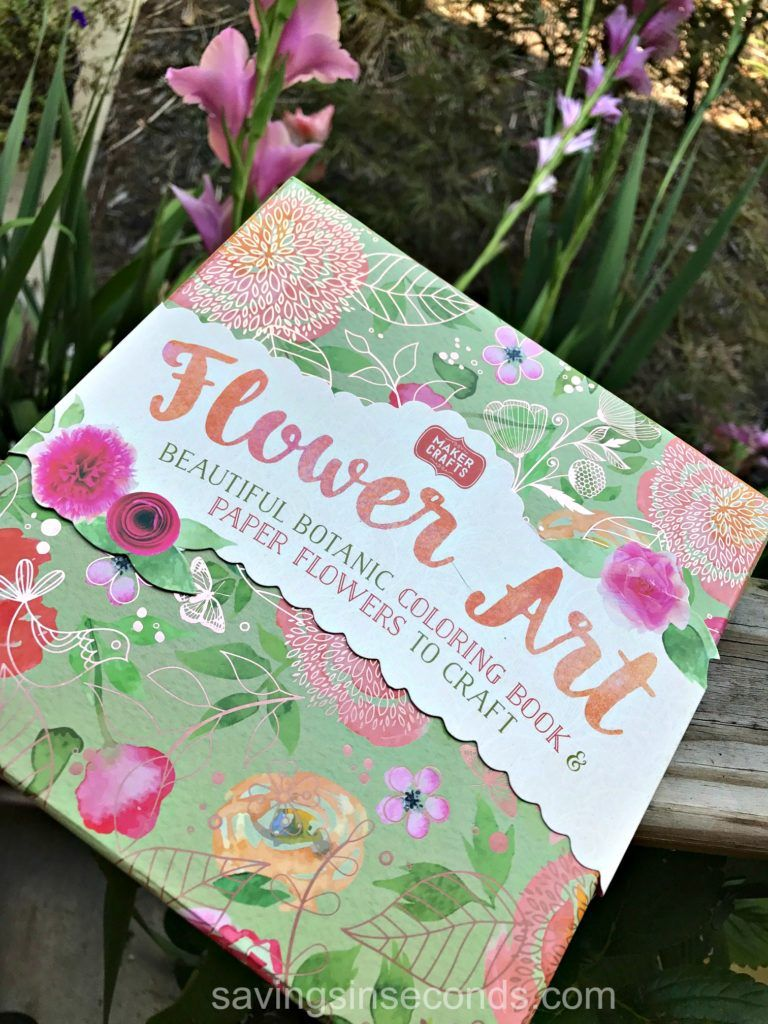 Flower Art Craft Kit Coloring Book And Paper Flowers Kit Giveaway Art Craft Kit Flower Art Paper Flowers