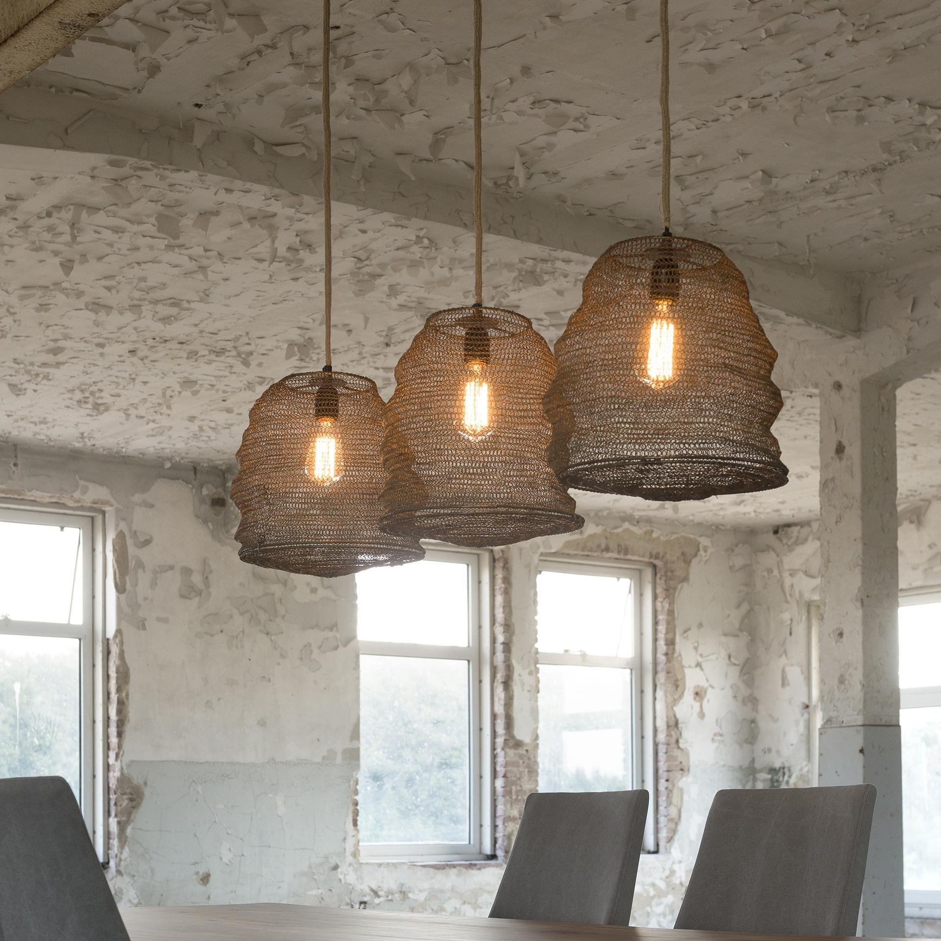 Set of antiqued bronze hanging basket pendant lamps pinterest