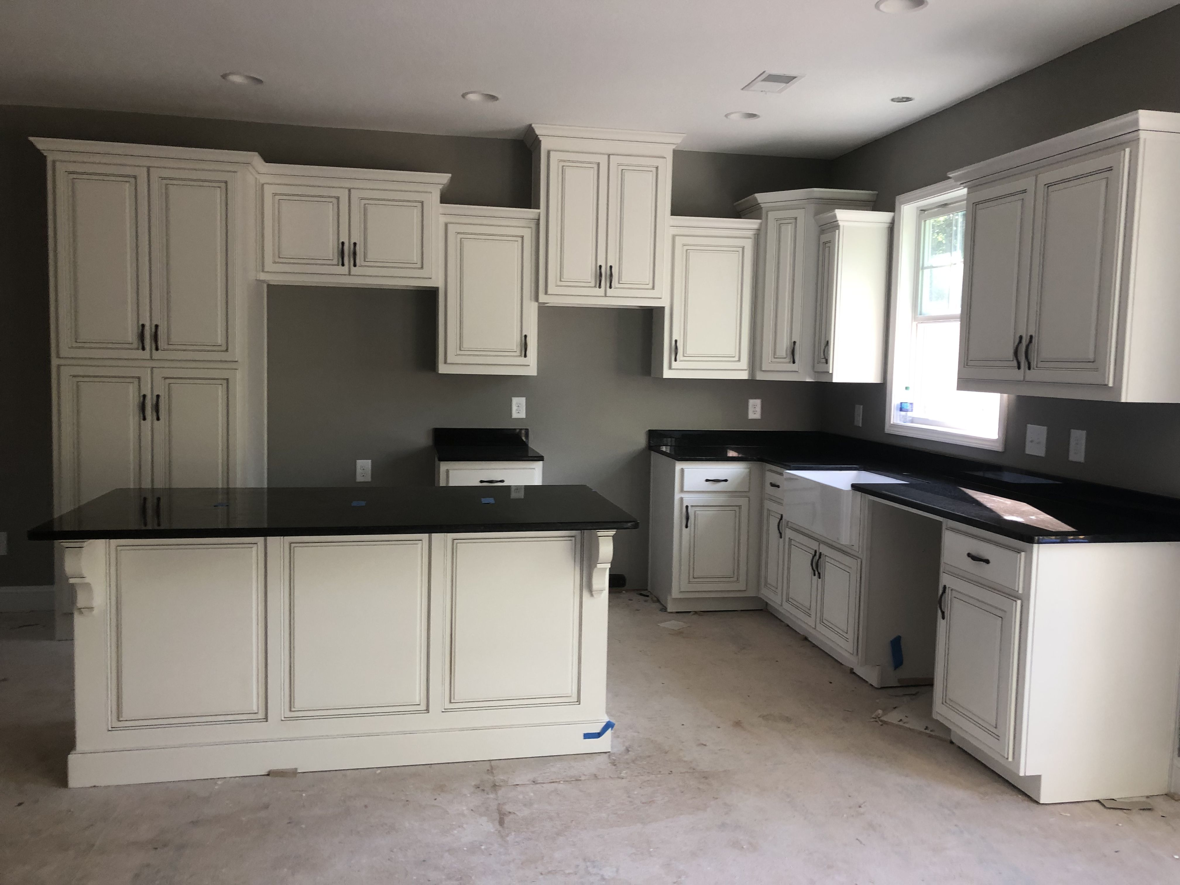 Distressed Kitchen Cabinets And Dorian Gray Walls Distressed Kitchen Kitchen Cabinets Distressed Kitchen Cabinets