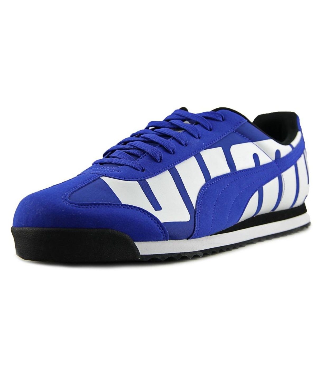 47a032e26 PUMA Puma Roma Big Logo Men Round Toe Synthetic Blue Sneakers'. #puma  #shoes #sneakers