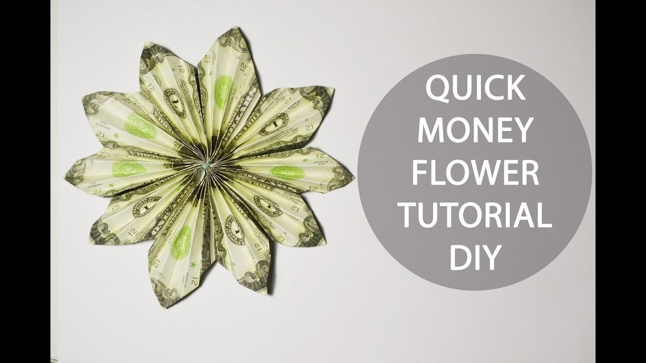 Quick Money Flower Origami Dollar Folded Tutorial Diy Decoration