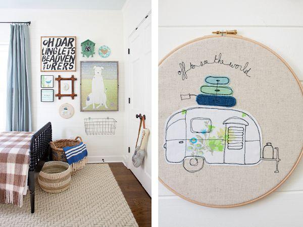 Boys Bedroom | Hoop Art | Wall Grouping
