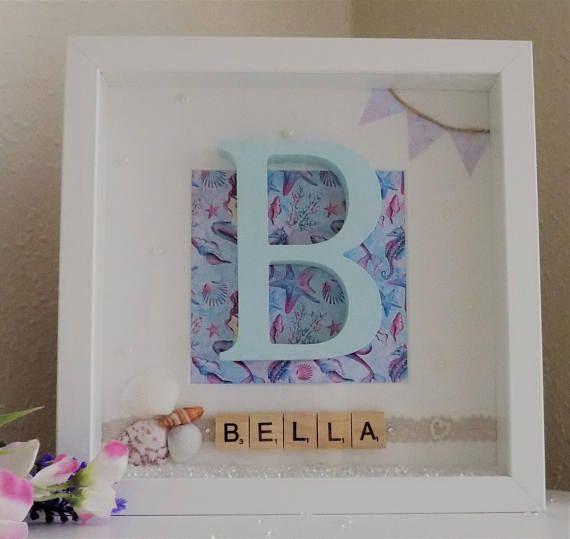 Mermaid gift, Gift for Girl, Personalised wooden letter monogram ...