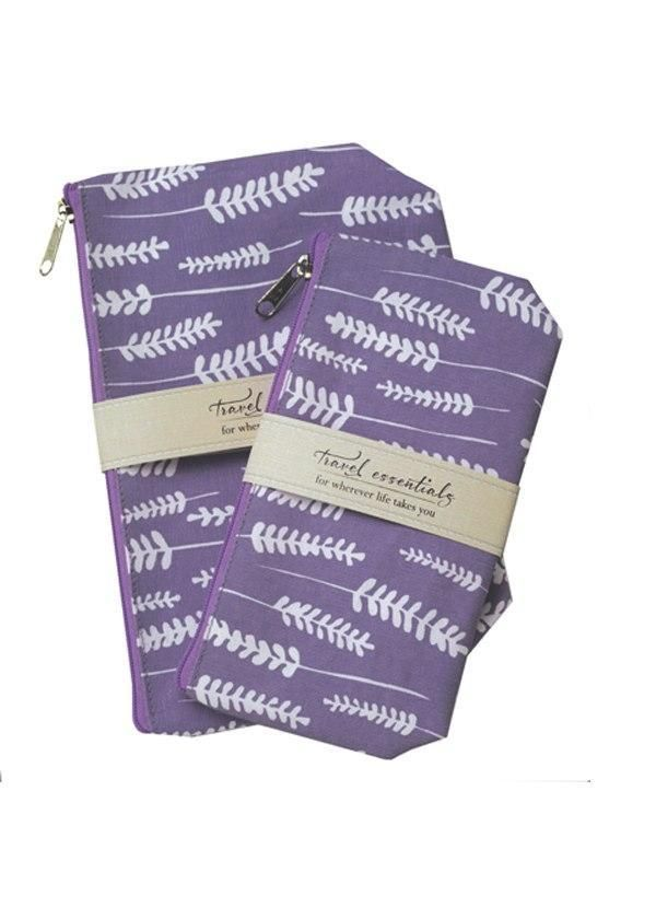 Mangiacotti Lavender Travel Essential Cosmetic Bags Cosmetic Bag