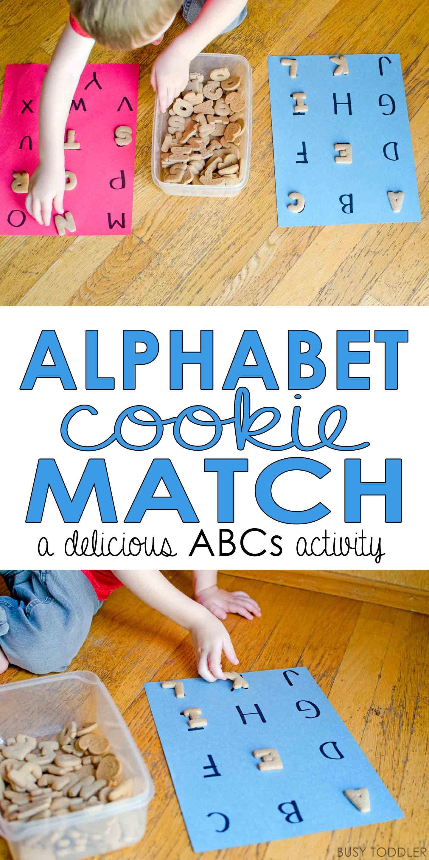 Alphabet Cookie Match Game Alphabet preschool
