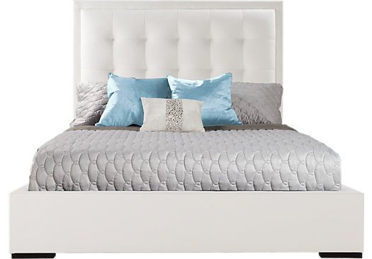 shop for a rosalia white 3 pc queen bed at rooms to go find beds