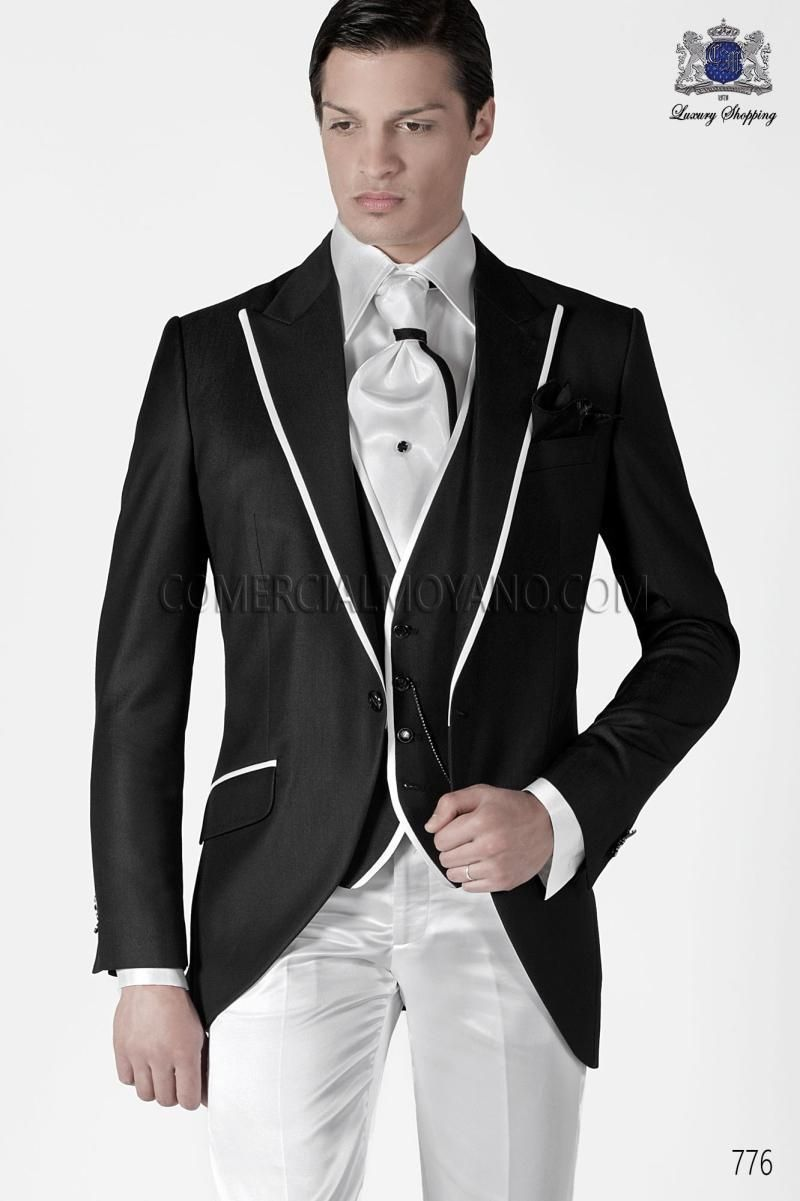 New design slim fit black groom tuxedos two button best menus