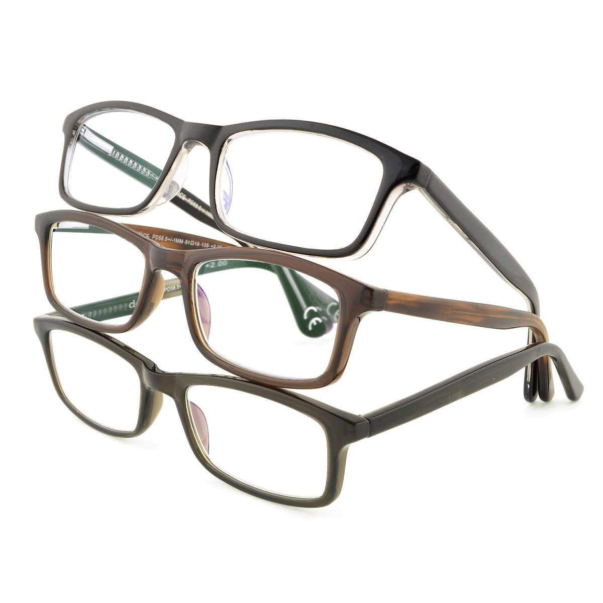 Design Optics By Foster Grant 3-pack Reading Glasses