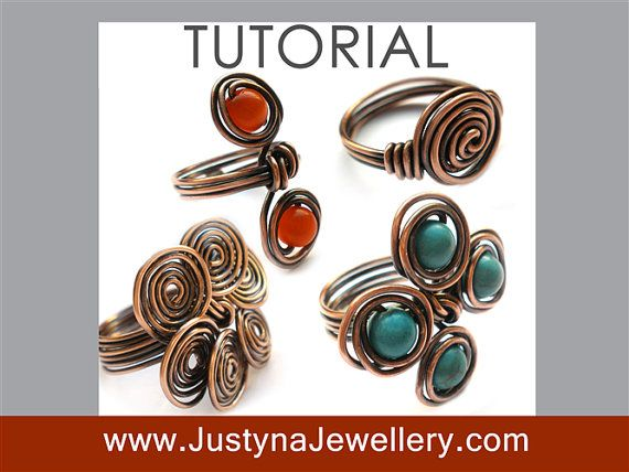 Spiral Ring Tutorial, Wire Wrapping Ring Tutorial, Rosette Ring ...