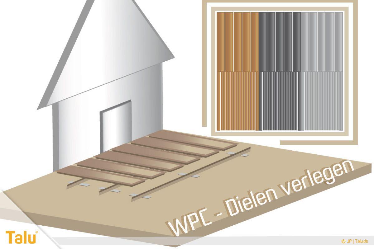 WPCDielen/Terrassendielen verlegen Terrassendielen