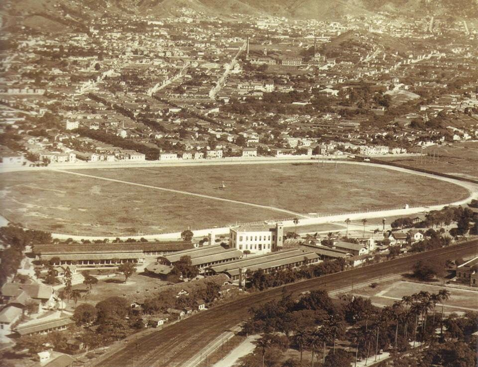 The Maracanã horse race track, demolished to be replaced by the Maracanã stadium, built for the 1950 Fifa world cup.