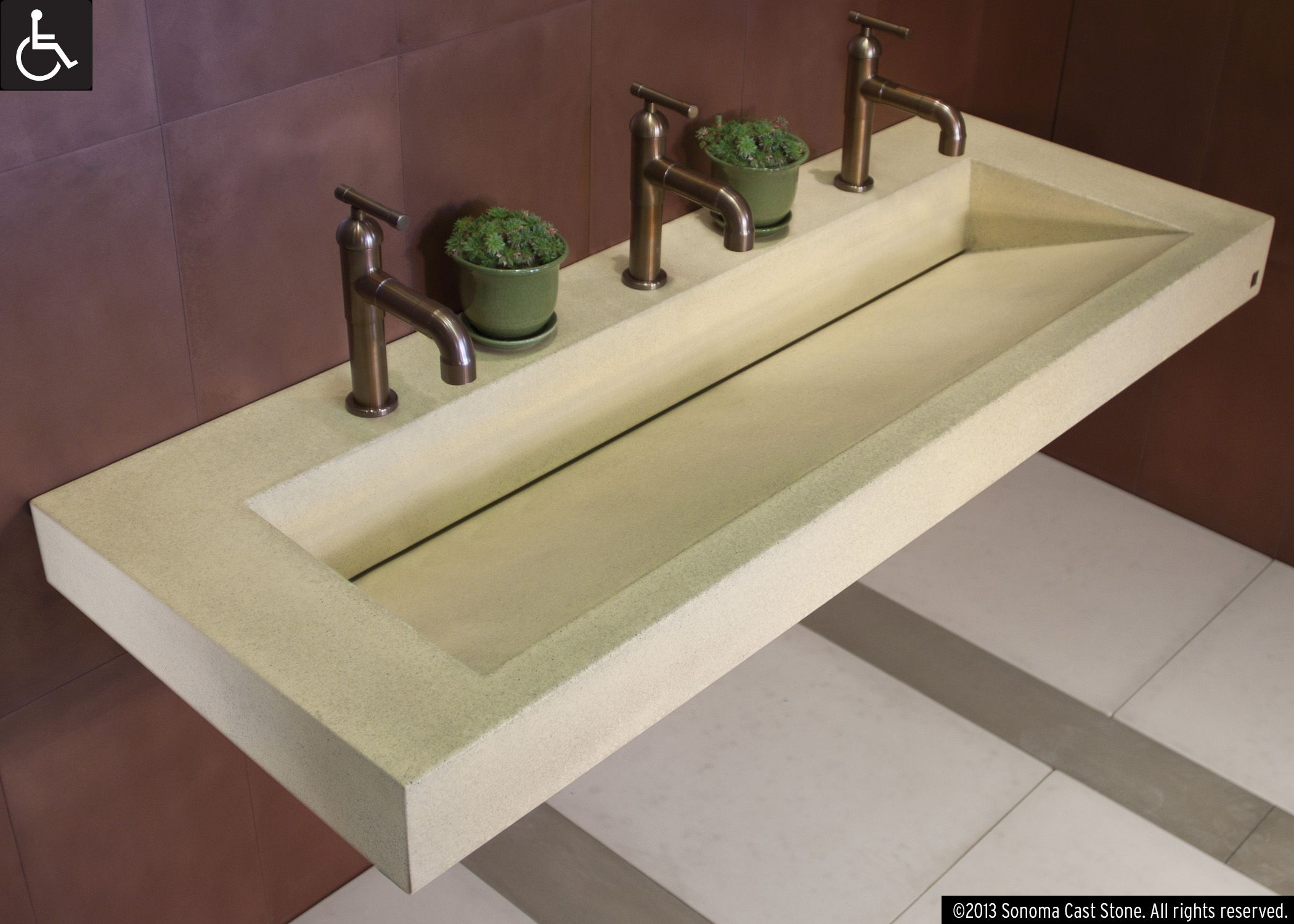 Superior Our Most Versatile Design, Ramp Sinks Slope To Order! Front, Back, Side