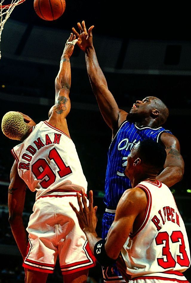 Dennis Rodman Chicago Bulls Shaquille O Neal Orlando Magic Scottie Pippen a34db06f9