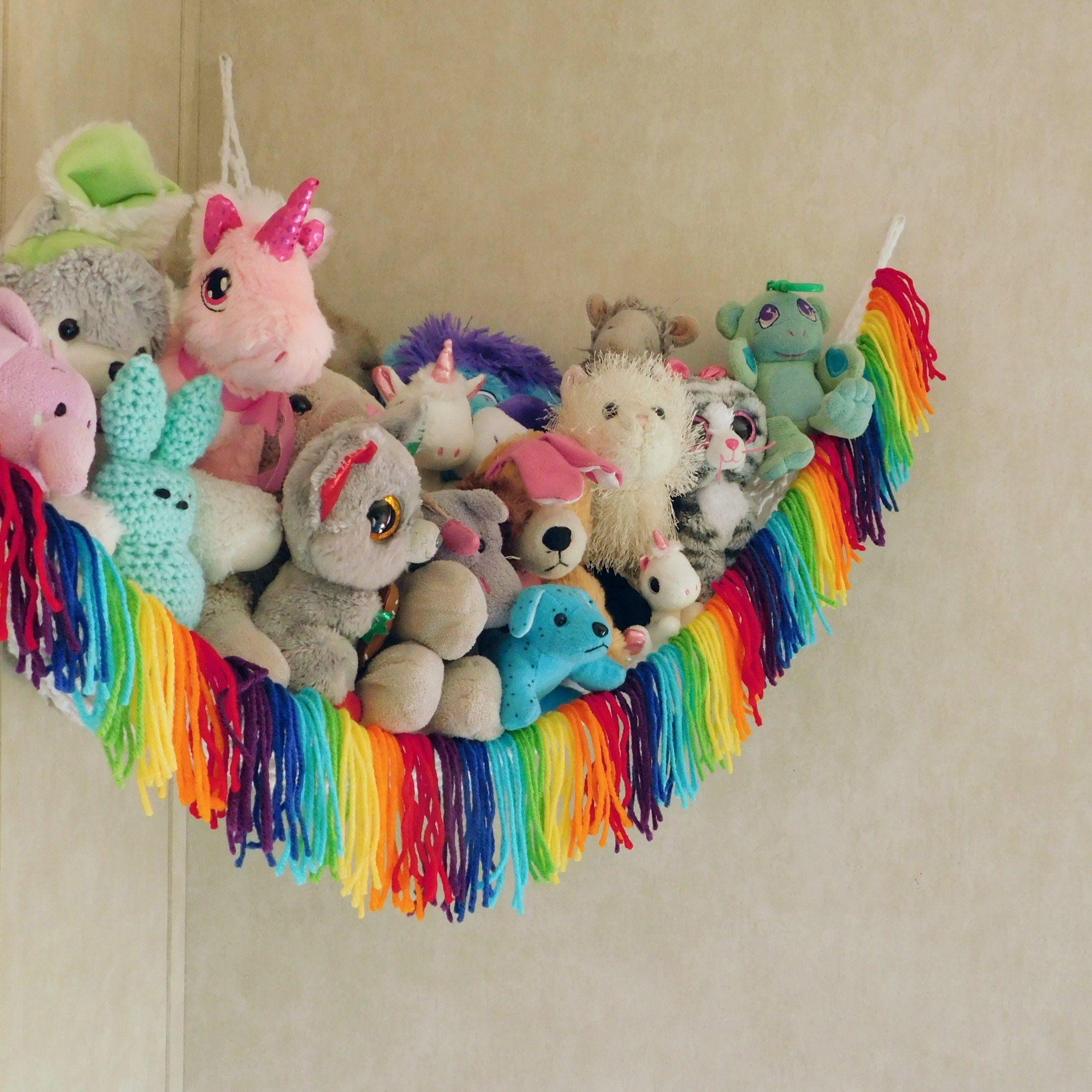 RAINBOW, toy hammock, toy storage, toy hammock, boho