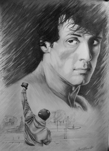 Nice Portrait Of Rocky With Images Rocky Balboa Sylvester
