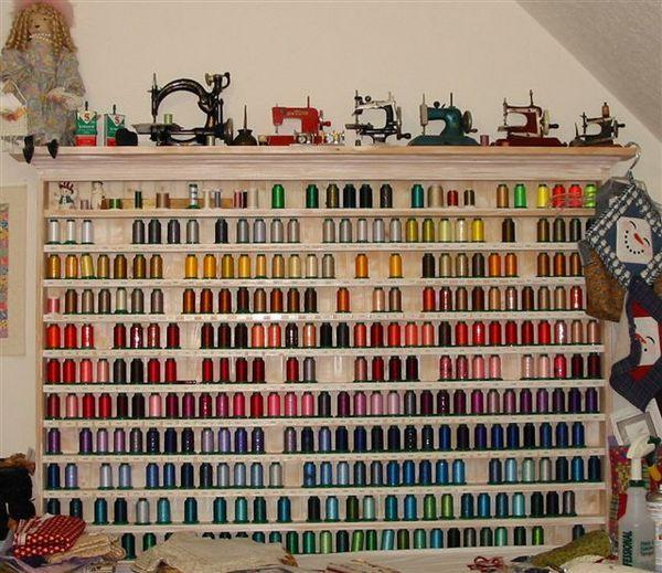 Thread Organizer Holder Rack Vintage