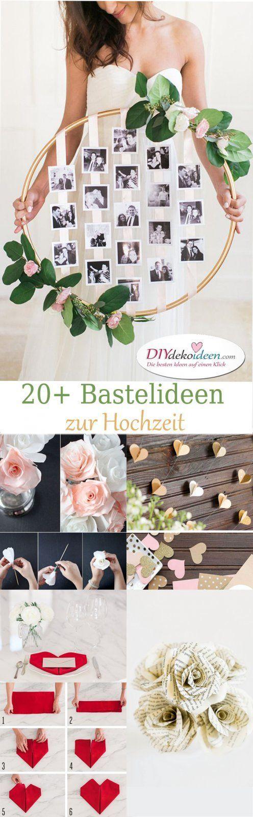 20 Diy Bastelideen Zur Hochzeit Ideen Fur Die Hochzeit Hochzeitsdeko Tischdeko Hochzeit