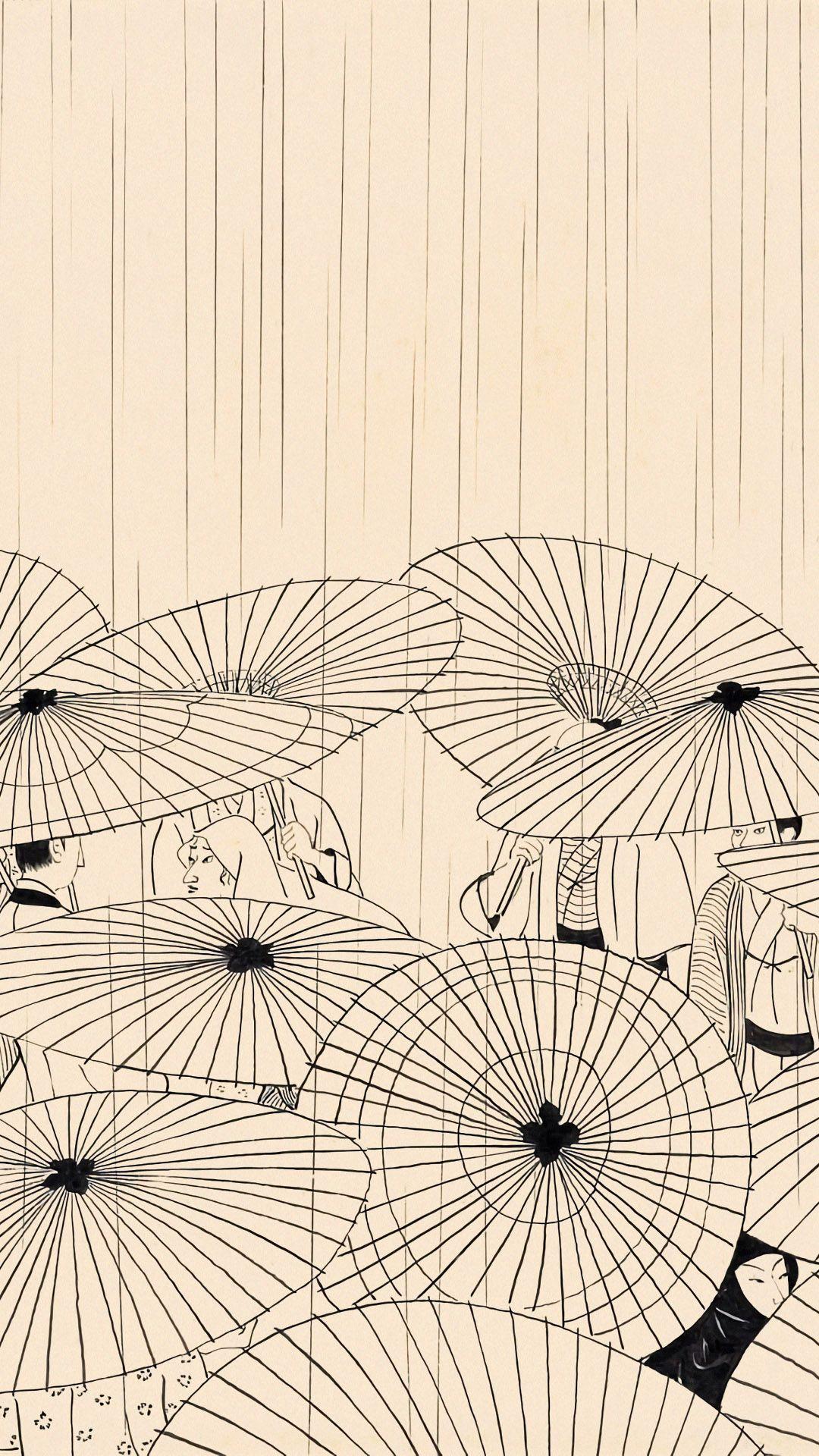 小村雪岱 おせん 傘 Komura Settai Osen Kasa 1080 19 壁紙ギャラリー Kagirohi アジアのアート イラストアート 日本画