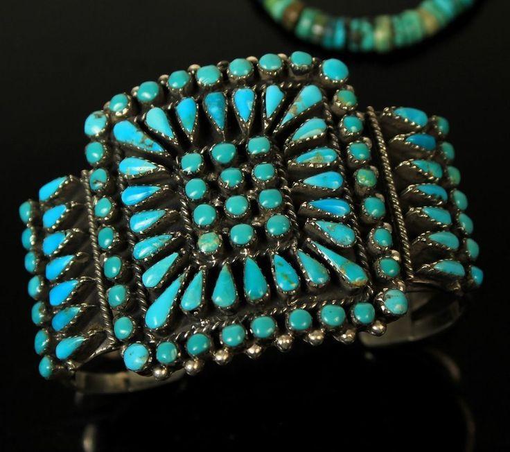 Turquoise cluster bracelet Turquoise Jewelry Pinterest