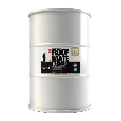 Gaf Roof Mate Top Coat 55 Gal White Acrylic Reflective Elastomeric Roof Coating 15 Year Limited Warranty 890329920 The Home Depot In 2020 Roof Coating Elastomeric Roof Coating Galvanized Metal Roof