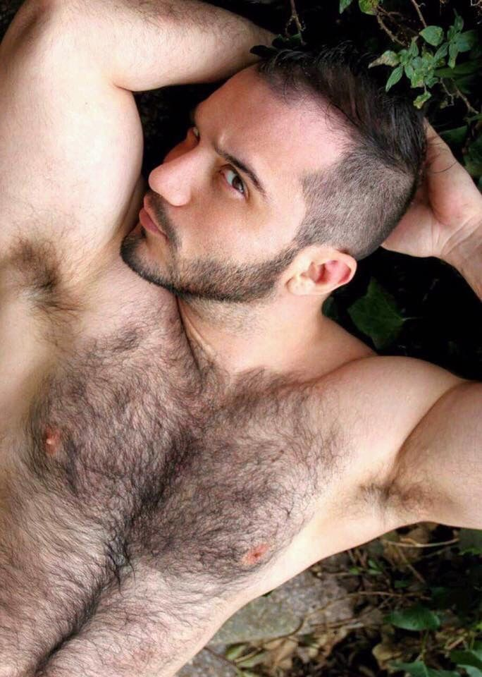 Extremely hairy shirtless