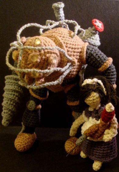 Big dady del Bioshock en Crochet, seguro que a @Begoña Antón le mola