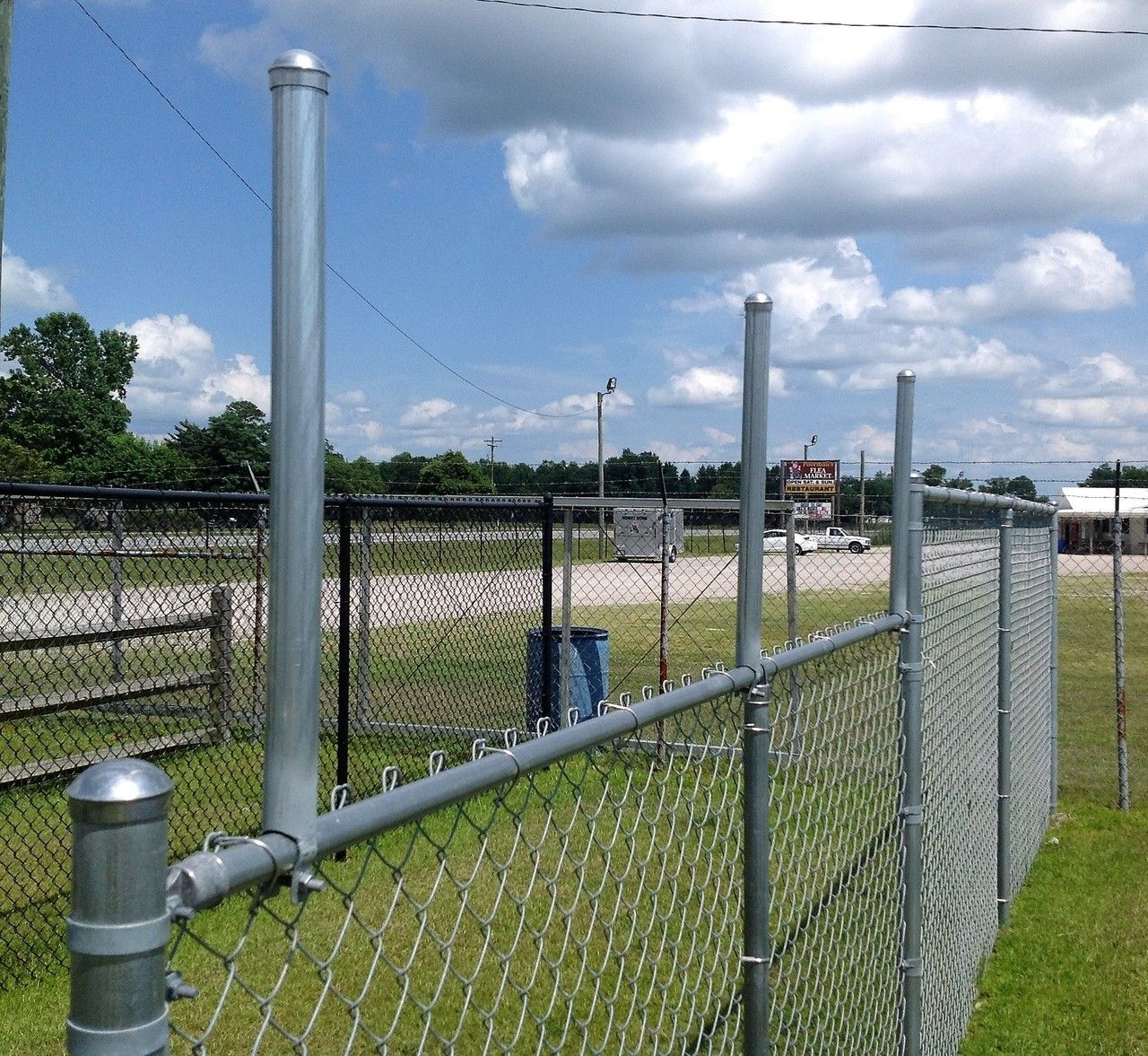 Extend A Post Extensions For Chain Link Fence Set Of 9 The Fence Department Inc Chain Link Fence Chain Link Fence Gate Fence Height Extension
