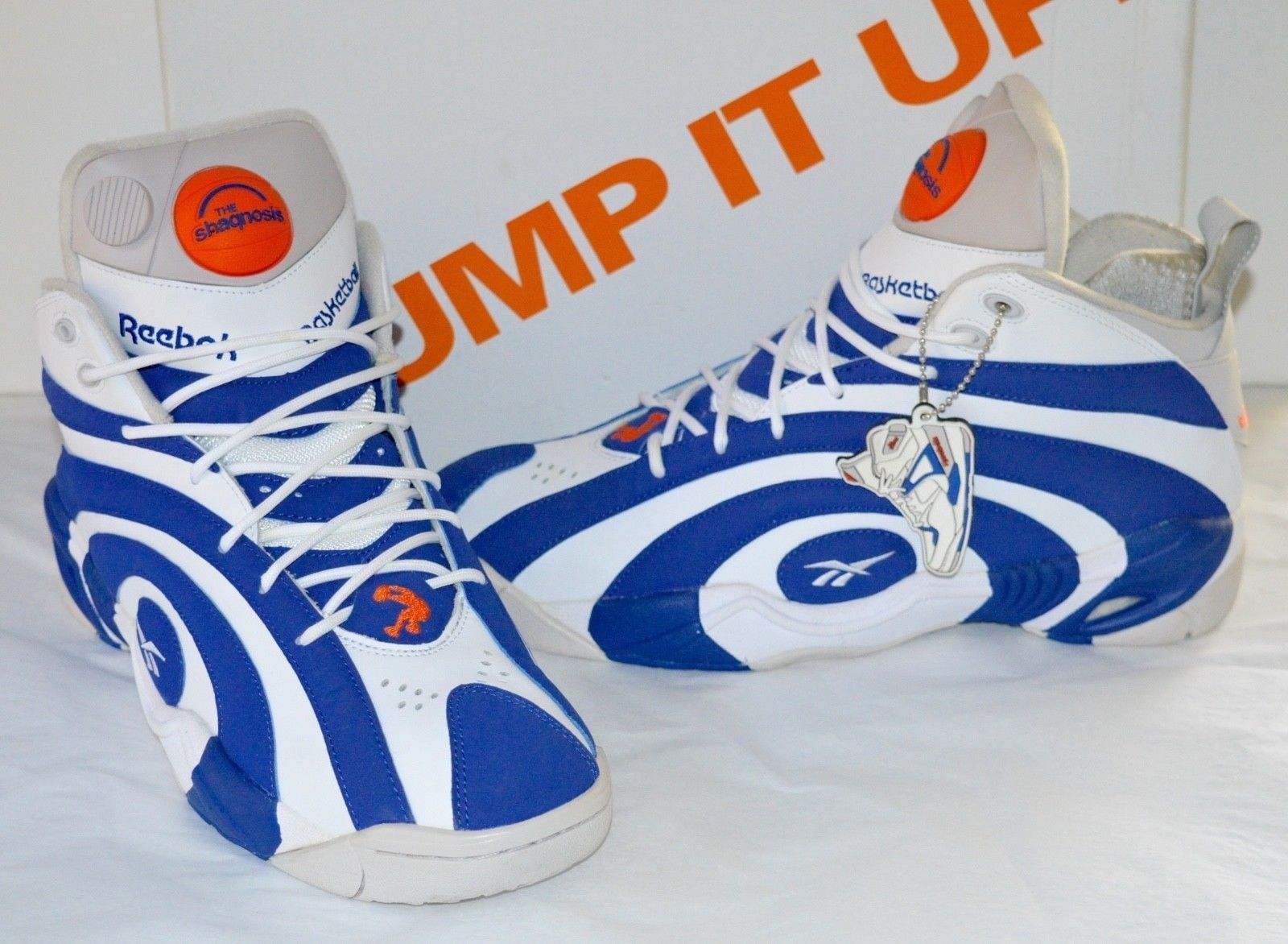 714ab0d39dc3 Details about NDS Reebok Pump Shaqnosis Royal Blue White Grey Flux ...