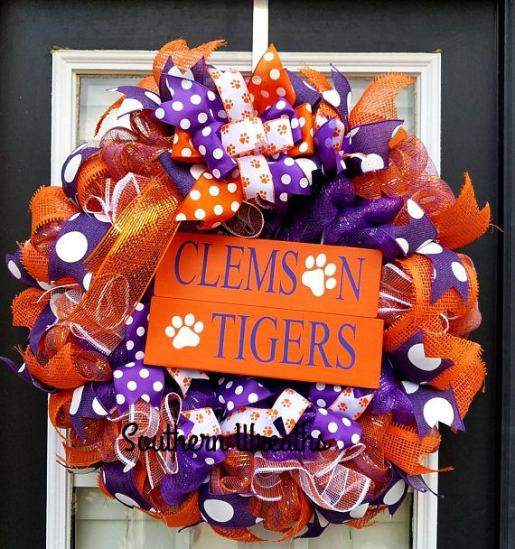 Clemson Christmas Tree: Pin By Southern Wreaths On College Football Wreaths