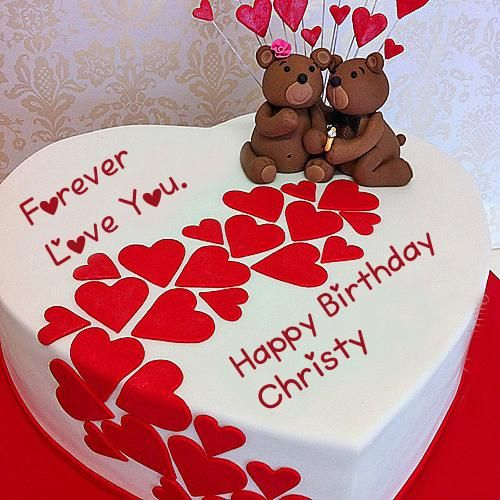 Write Name Birthday Teddy Cake Love U Forever Pictures Anand In