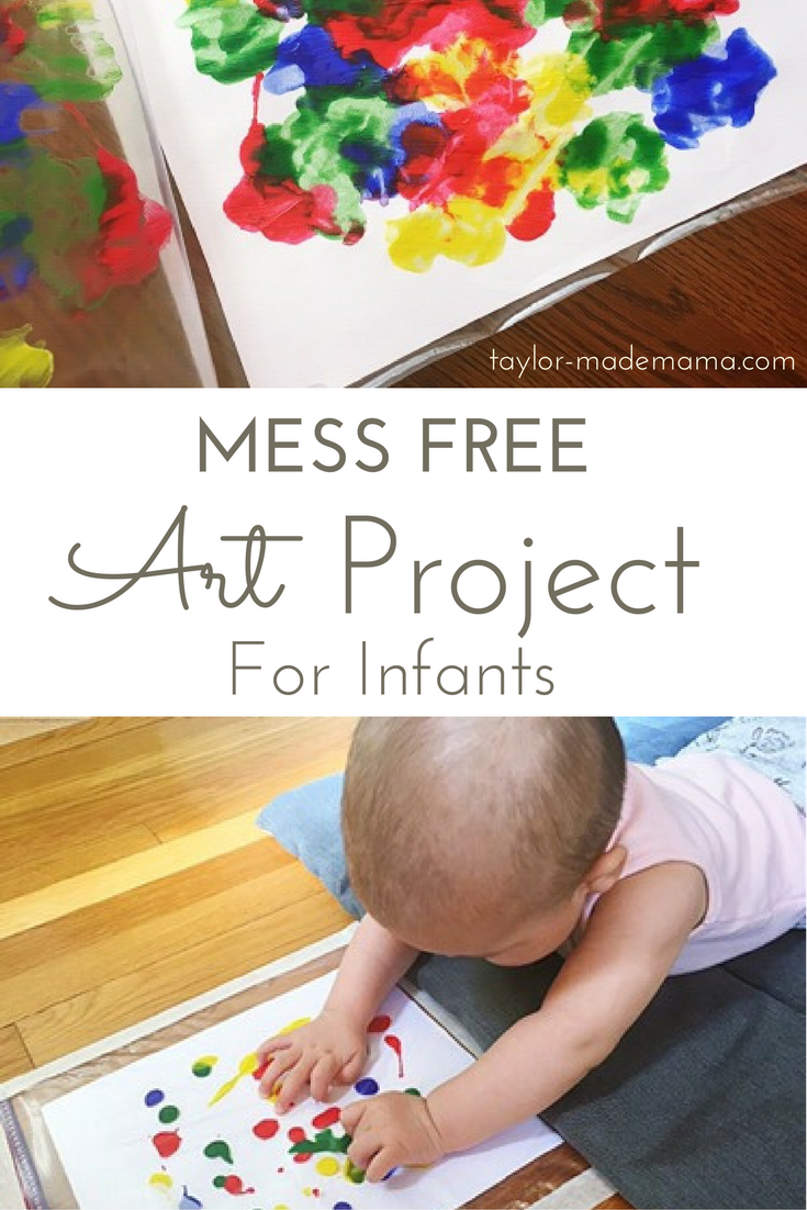 Mess Free Tummy Time Art Project For Infants Baby art