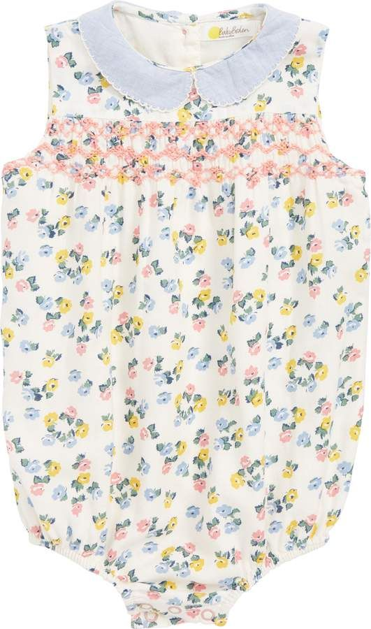 46aac310ce7 Boden Mini Smocked Floral Romper