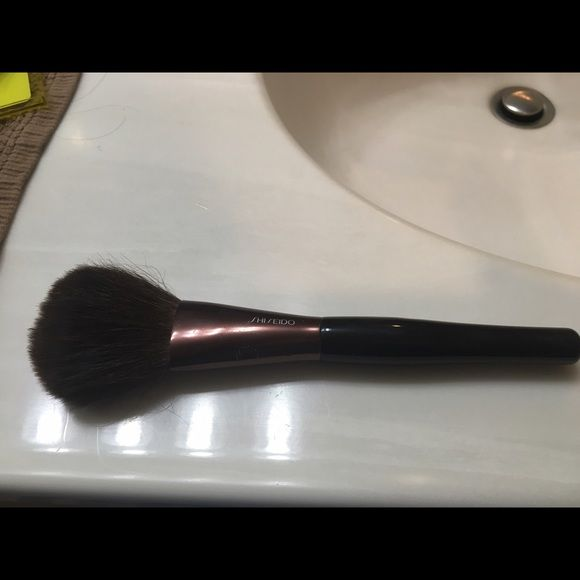 Shiseido all over powder brush Honestly only used a few times. Brush hairs feel great! Nice and soft! Makeup Brushes & Tools