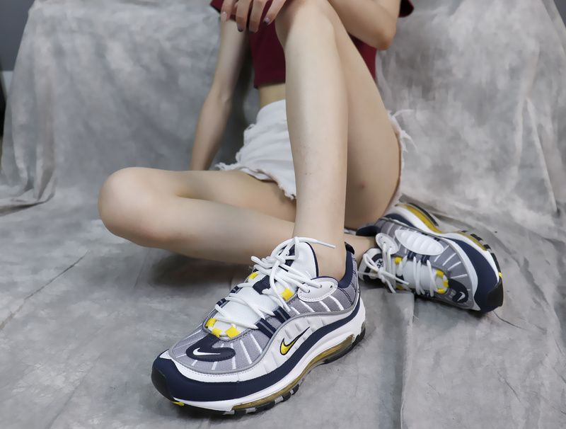 c43077c72adc9b Fashion Nike Air Max 98 Tour Yellow Midnight Navy White Buy Sneakers  Trainers 640744-105
