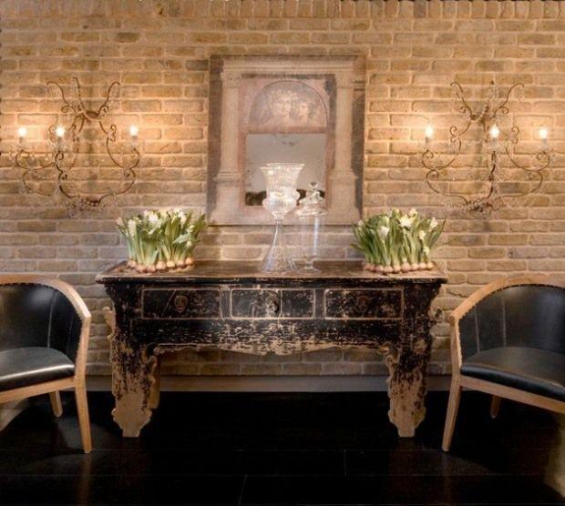 21 idées pour un parement de brique dans la maison Briques, Meuble