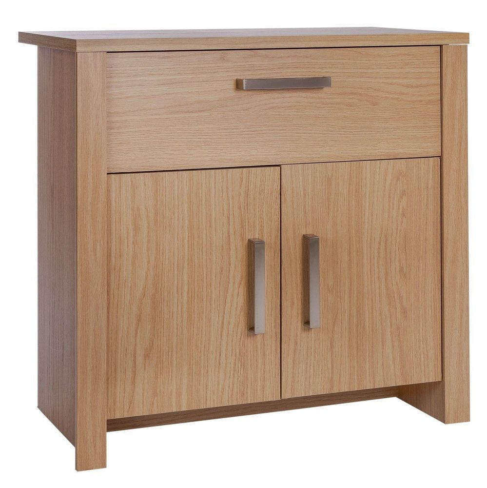 Oak Effect Kitchen Cabinets: Details About Small Sideboard Cabinet Storage Cupboard