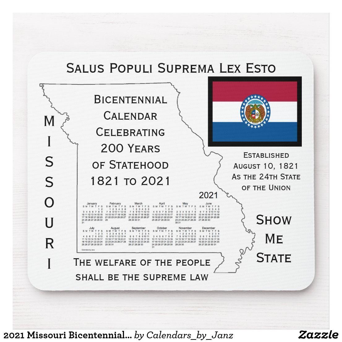 2021 Missouri Bicentennial Calendar by Janz Mouse Pad
