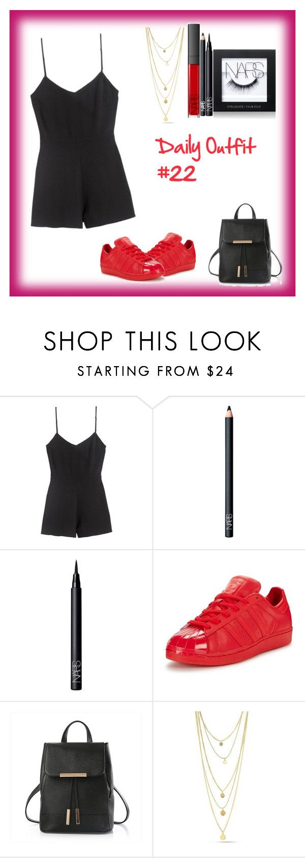 """Daily Outfit  #22"" by niaoffcal ❤ liked on Polyvore featuring NARS Cosmetics and adidas Originals"