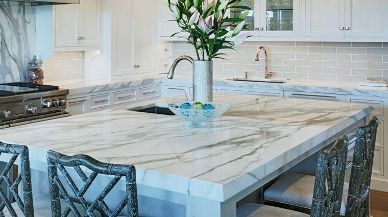 Encimeras cocina - 66 ideas increíbles de encimeras de mármol ...