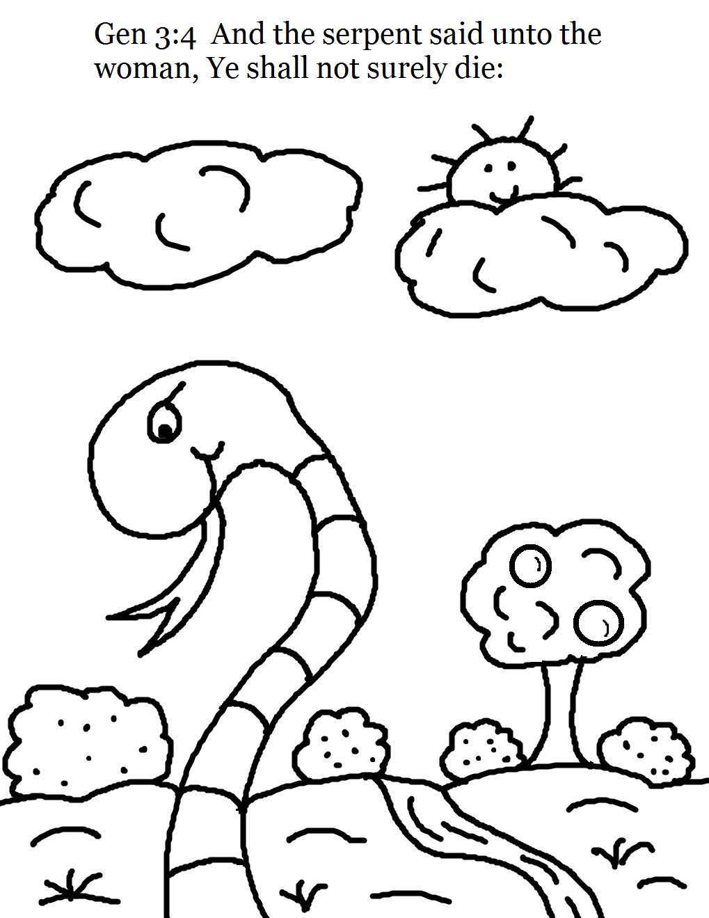 Coloring Pages For Children Is A Wonderful Activity That Encourages To Think In Creative Adam And EveColoring PagesBible
