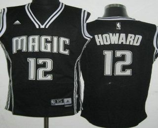 e09971601 orlando magic 12 dwight howard revolution 30 swingman black with white  jersey