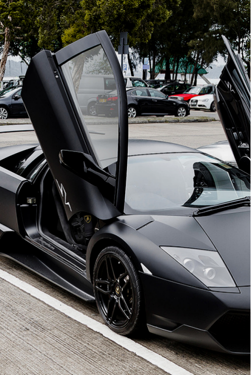 Black Lamborghini Aventador With Open Doors Stuff To Buy
