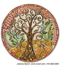 Tree of Life Round Ornament by ADMIN_CP3273914