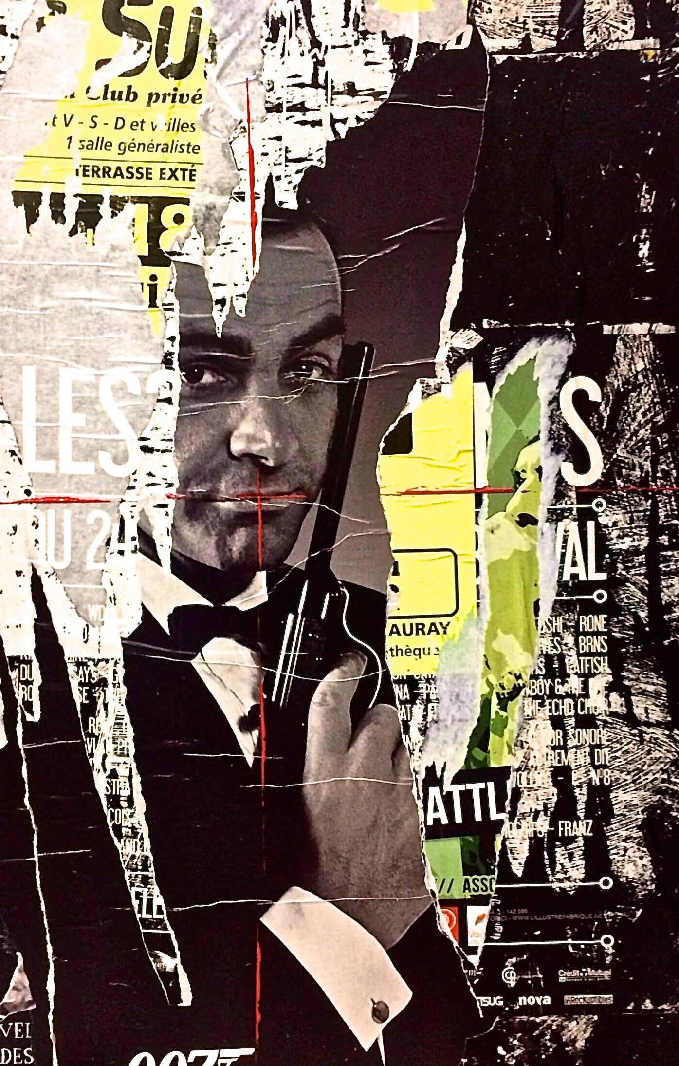 james bond street art pop art affiche collage affiche. Black Bedroom Furniture Sets. Home Design Ideas