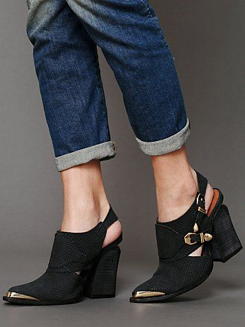 Jeffrey Campbell Singer Slingback Boot at Free People Clothing Boutique.